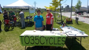 With Ward 35 Cycling Committee member Steve Da Cambra